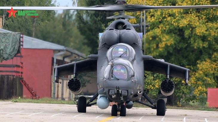 Xem Mi-8 và Mi-35 tác chiến điêu luyện tại diễn tập BARS-2021