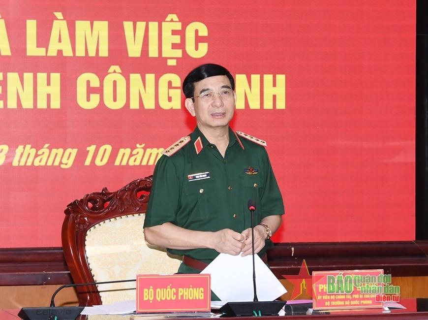 Đại tướng Phan Văn Giang thăm, làm việc với Binh chủng Công binh