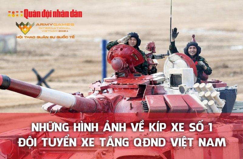 Những hình ảnh về kíp xe số 1 Đội tuyển xe tăng QĐND Việt Nam
