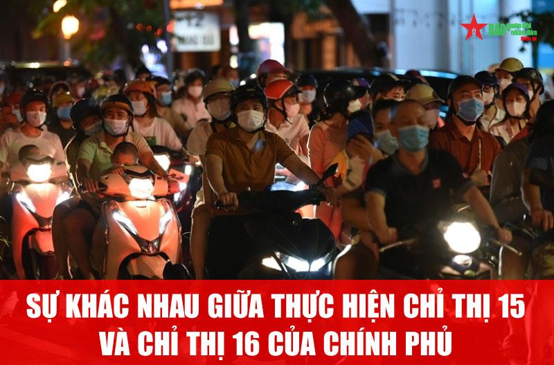 Từ việc người dân Hà Nội đổ xô ra đường đêm Trung thu: Cần phân biệt sự khác nhau giữa thực hiện chỉ thị 15 và chỉ thị 16 của Chính phủ