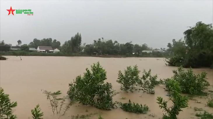 Mưa lũ gây ngập lụt tại Quảng Ngãi