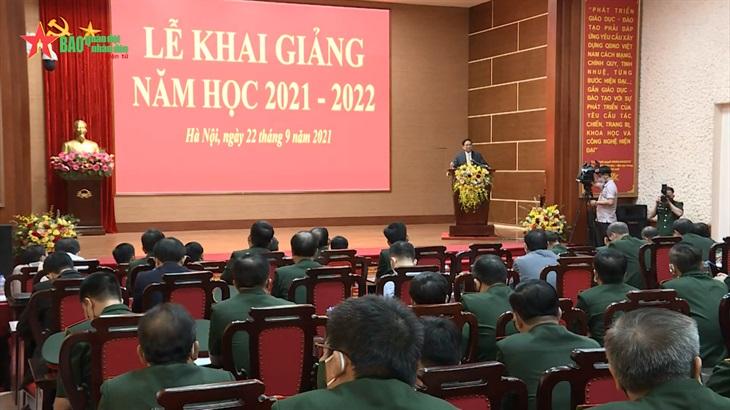Thủ tướng Chính phủ dự Lễ khai giảng năm học 2021-2022 của Học viện Quốc phòng