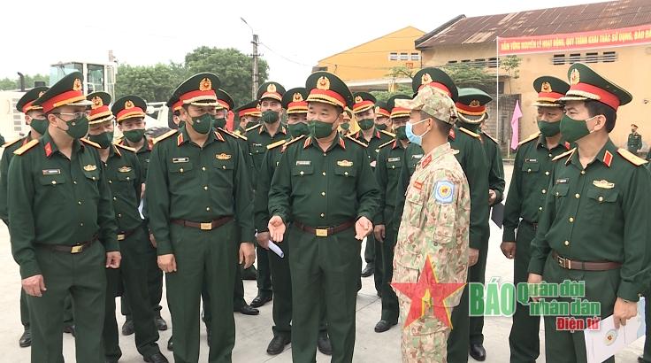 Kiểm tra công tác chuẩn bị triển khai Đội Công binh Số 1 tham gia mũ nồi xanh