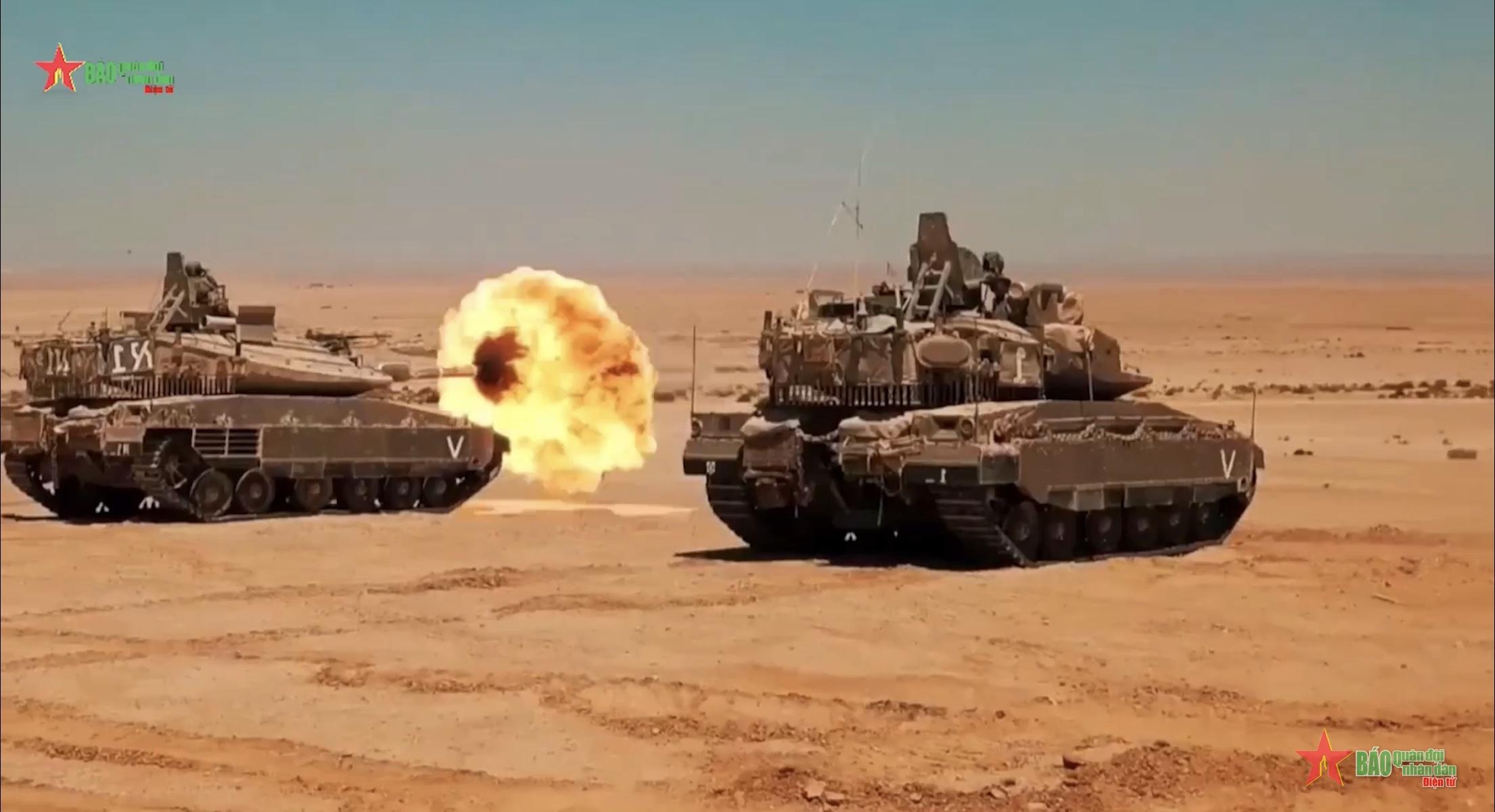 """""""Siêu tăng"""" Merkava IV của quân đội Israel"""