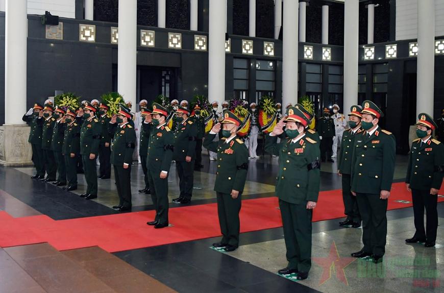 Tổ chức trọng thể Lễ viếng, Lễ truy điệu đồng chí Đại tướng Phùng Quang Thanh
